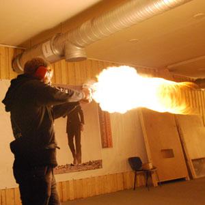 Firing Desert eagle at shooting range in Tallinn