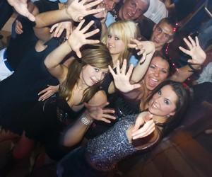 image of Group of babes in a night club having fun